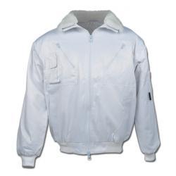 "Pilot Jacket ""BERGEN"" - 60% Cotton/ 40% Polyester - White"
