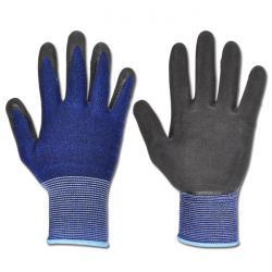 "Arbeitshandschuh ""SCOTT"" - BW/Spandex - Farbe schwarz/blau - EN 388 / Klasse 2121"