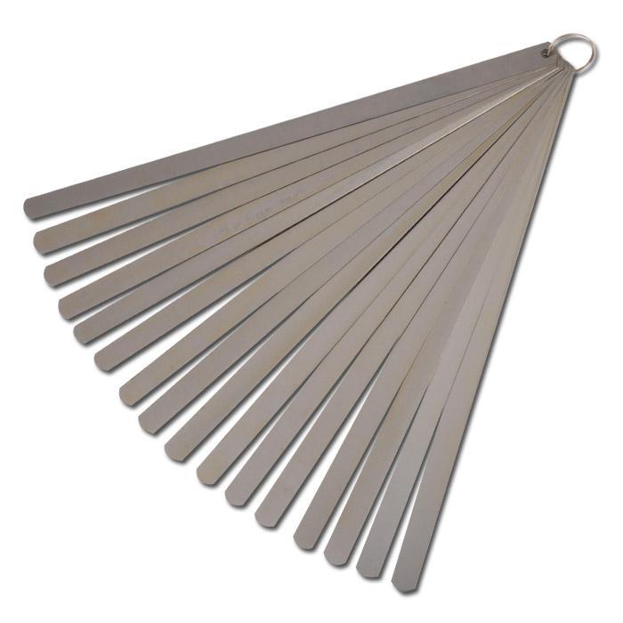 Kolbenspiellehre - Stahl - Messbereich 0,05 bis 1mm - 13/20 Blatt