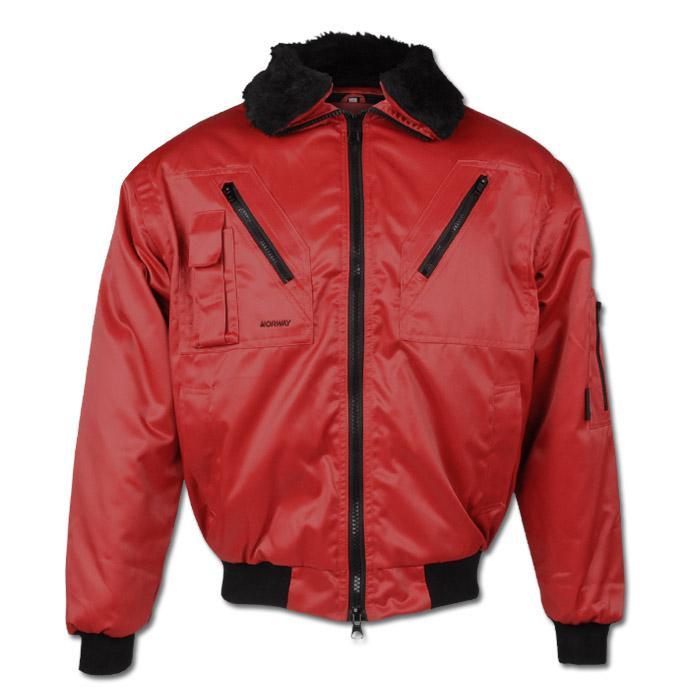 """Winter Jacket """"Drammen"""" - 60% Cotton/40% Polyester - Red"""