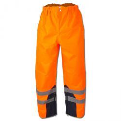 """Pantaloni alta visibilità """"Matula"""" - coating Oxford PU - colore arancione - Sicuro stile EN471 / 1 - EN343 - EN340"""