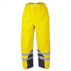 """Høj synlighed bukser """"Renz"""" - Oxford PU belægning - farve gul - Safe Style EN 343 - EN 340"""