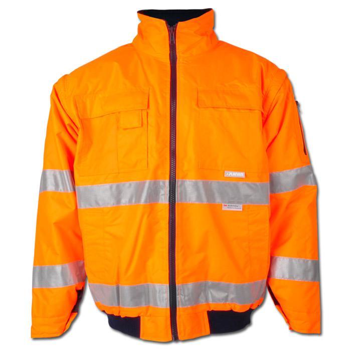 Alta visibilità giacca pilota Planam - 85% poliestere, 15% cotone - arancio