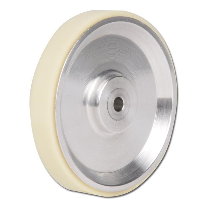 Messrad - Aluminium - Lauffläche glatt - Ø 63,77 mm - Bohrung-Ø für Welle 5mm