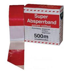 Bande de balisage - rouge et blanche - rouleau de 100m ou de 500m