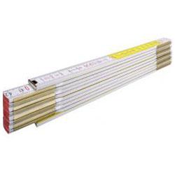 Trätumstock, längd 3m - färg vit-gul - Stabila
