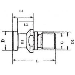 Anzugsbolzen, Einsatz gehärtet 58 ± 2 HRC Eht 0,5- 0,8, parallel geschliffen nach DIN