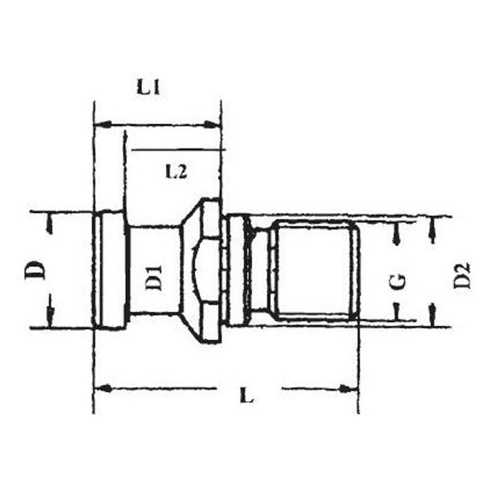 Dra dubbar, härdad användning 58 ± 2 HRC CHD 0,5- 0,8, jord parallellt med DIN