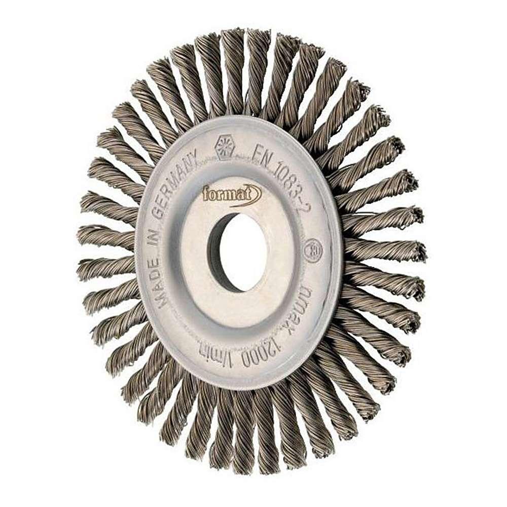 Rundbürste, Gezopfter Stahldraht, Bürsten-Ø: 115/125/178, FORUM