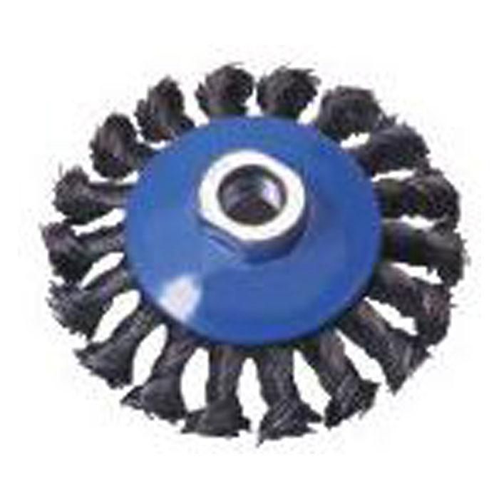 Kegelbürste, Gehärteter Stahldraht, Gezopft, Ø: 100/ 115 mm, FORUM