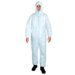 Engångsskyddsoverall vit skyddsklass PSA, kategori I, polypropylen