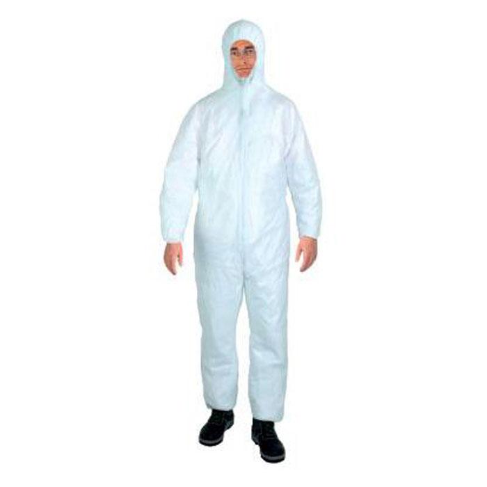 Schmutzschutzoverall, weiß, Schutzklasse PSA, Kategorie I, Polypropylen