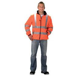 Softshell giacca visibilità, EN471 classe 2 arancione,