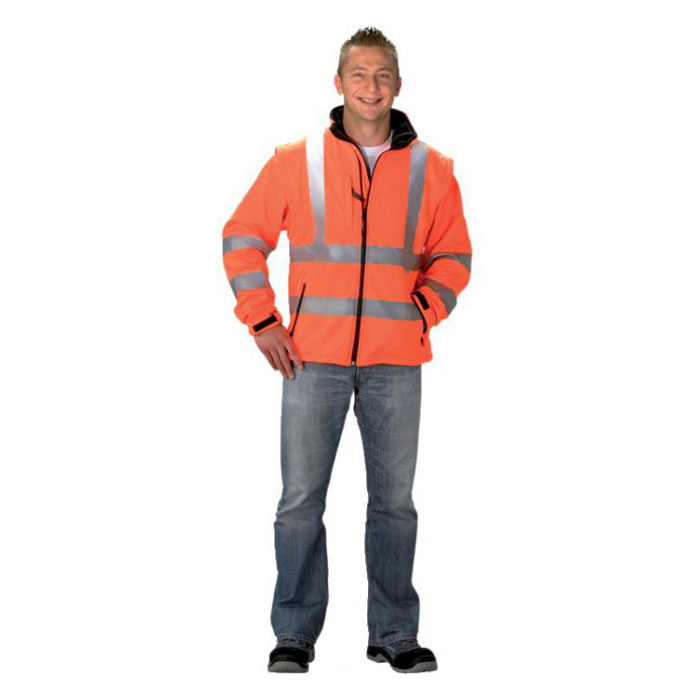 Softshell-Warnschutzjacke, EN471 Klasse 2, orange