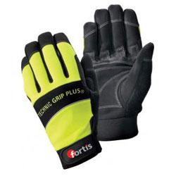 """Handschuh """"Technic Grip Plus"""", gelb/schwarz, EN 388 Kat. 2, FORTIS"""