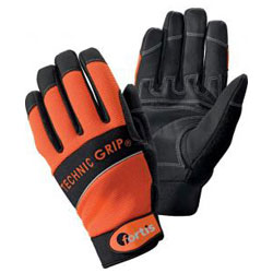 "Handske ""Technic Grip"", orange / svart, EN 388 Kat 2, FORTIS"