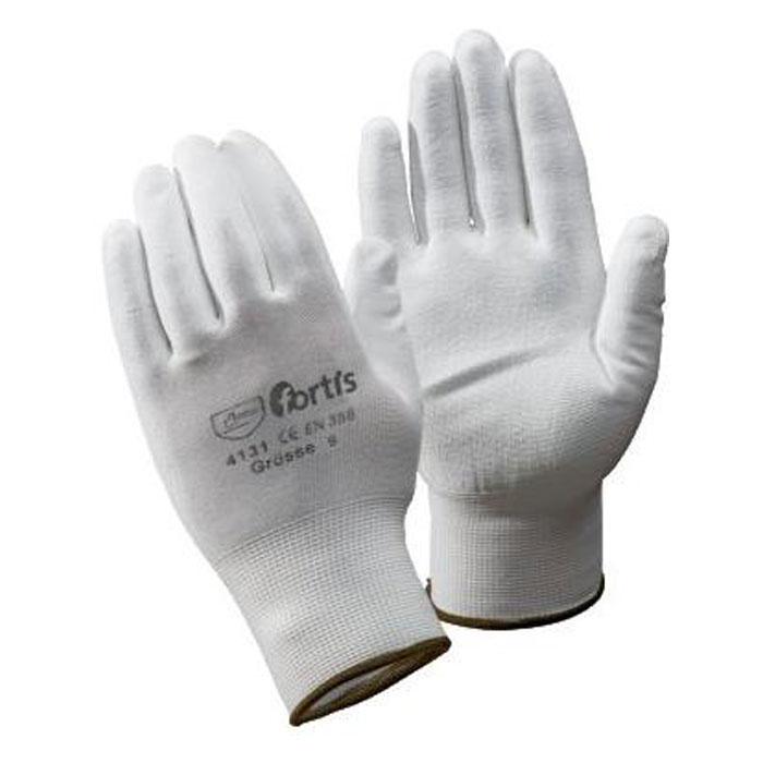 "Stickad handske ""MONTÖR"" - Cat 2 -. Vit - storlek 7-10 - FORTIS"