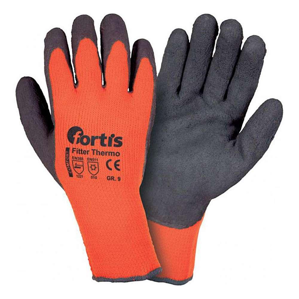 """Stickade handskar """"MONTÖR THERMO"""" - Cat 2 -. Storlek 9-10 - FORTIS"""