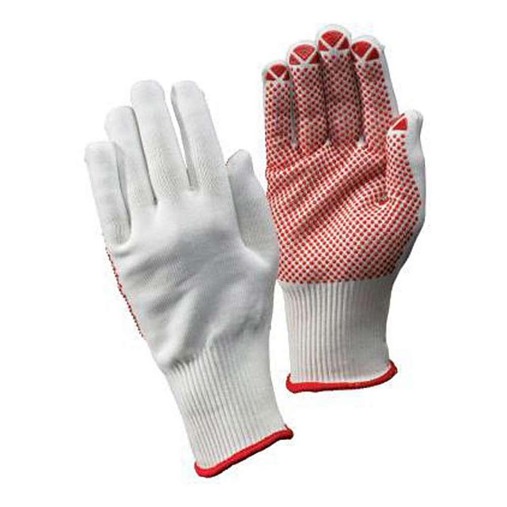 """Stickad handske """"packare"""" - Cat 2 -. Vit - storlek 7-10 - FORTIS"""