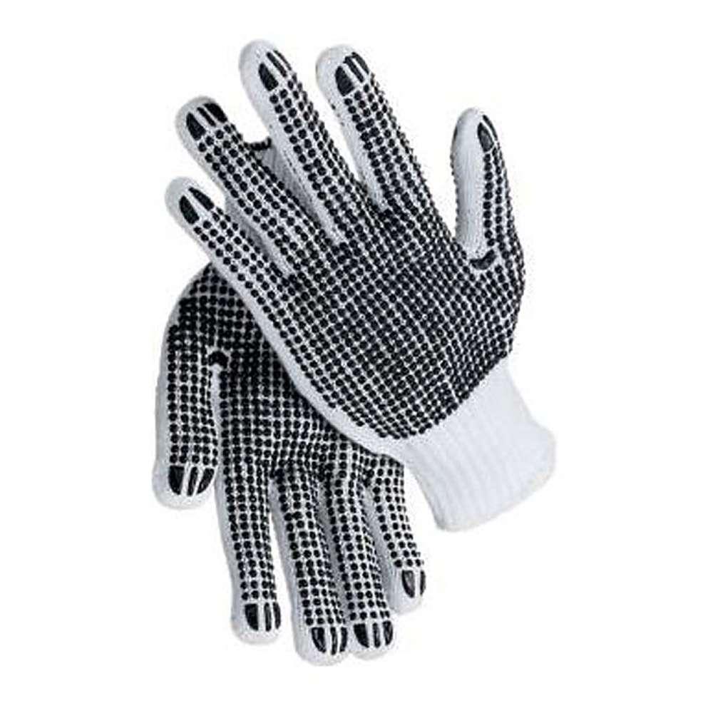 Stickad handske - PES - båda sidor ruggade - Cat 2 -. Storlek 9/11
