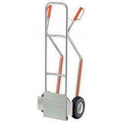 Aluminum hand truck - load 200 kg - with a folding shovel