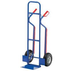 Steel tube cart - Maximum load: 250 kg - shovel size: 235 x 300 mm