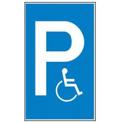 Parkeringsskylt - handikappsparkering - plast/aluminium