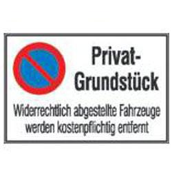 "Parkering tecken ""privat egendom"" - H x B: 400 x 600 mm"