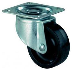 Apparate-Lenkrolle - Kunststoffrad - Rad-Ø 25 bis 50 mm - Bauhöhe 34 bis 68 mm - Tragkraft 15 bis 40 kg