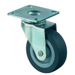 Lenkrolle - verzinkt - Gummirad - Rad-Ø 25 bis 50 mm - Bauhöhe 34 bis 68 mm - Tragkraft 15 bis 40 kg