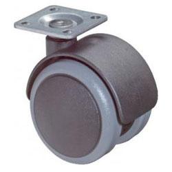 Castor F76 - Plast - med fästplatta - Ø 50 mm - BS ROLLS