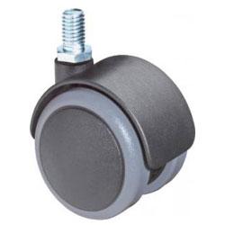 Castor F76- plast - Hjuldiameter 50 mm - med Gängat stift