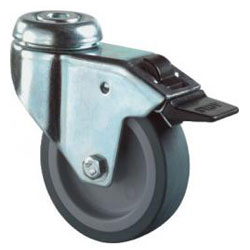 Apparate-Lenkrolle - Gummirad - Rad-Ø 50 bis 125 mm - Bauhöhe 73 bis 158 mm - Tragkraft 50 bis 100 kg