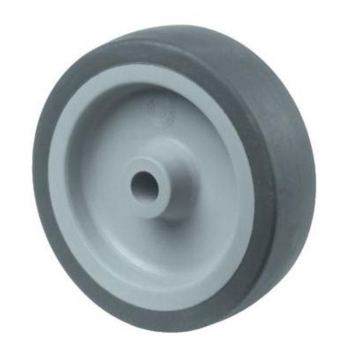 Gummirad für Apparaterollen - mit Gleitlager - Rad-Ø 50 bis 125 mm - Tragkraft 40 bis 100 kg
