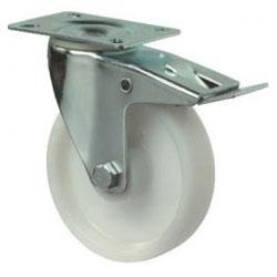 Lenkrolle - Kunststoffrad - Feststeller - Rad-Ø 80 bis 200 mm - Bauhöhe 105 bis 235 mm - Tragkraft 125 bis 300 kg