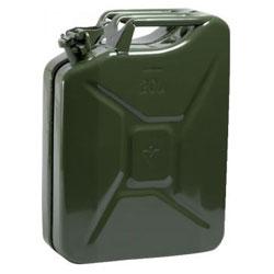 Pressad stål jerrycan - 10/20 liter - bränsle resistent