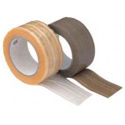 PVC packtejp - 6 rullar - fiberförstärkt - Chamois / Färglös