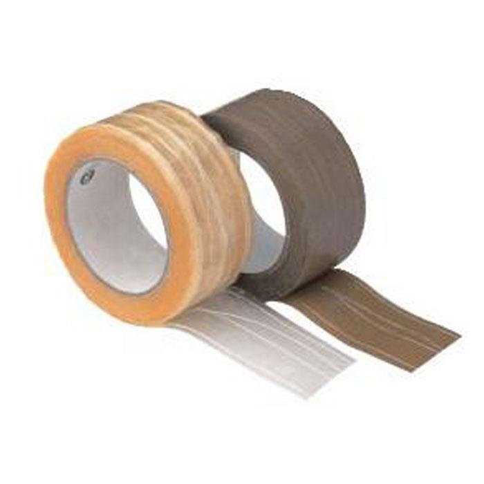 PVC-Packband - 6 Rollen - fadenverstärkt - Chamois/ Farblos