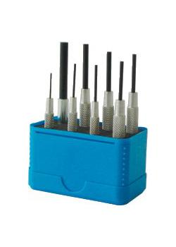 Pinndorn set - 8-bitar - med ärm - Ø 0,9 till 5,9 mm - Står