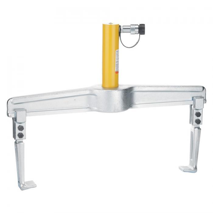 Hydraulischer Abzieher - 2-armig - max. Druckkraft 10 t - Abzugshaken umsteckbar