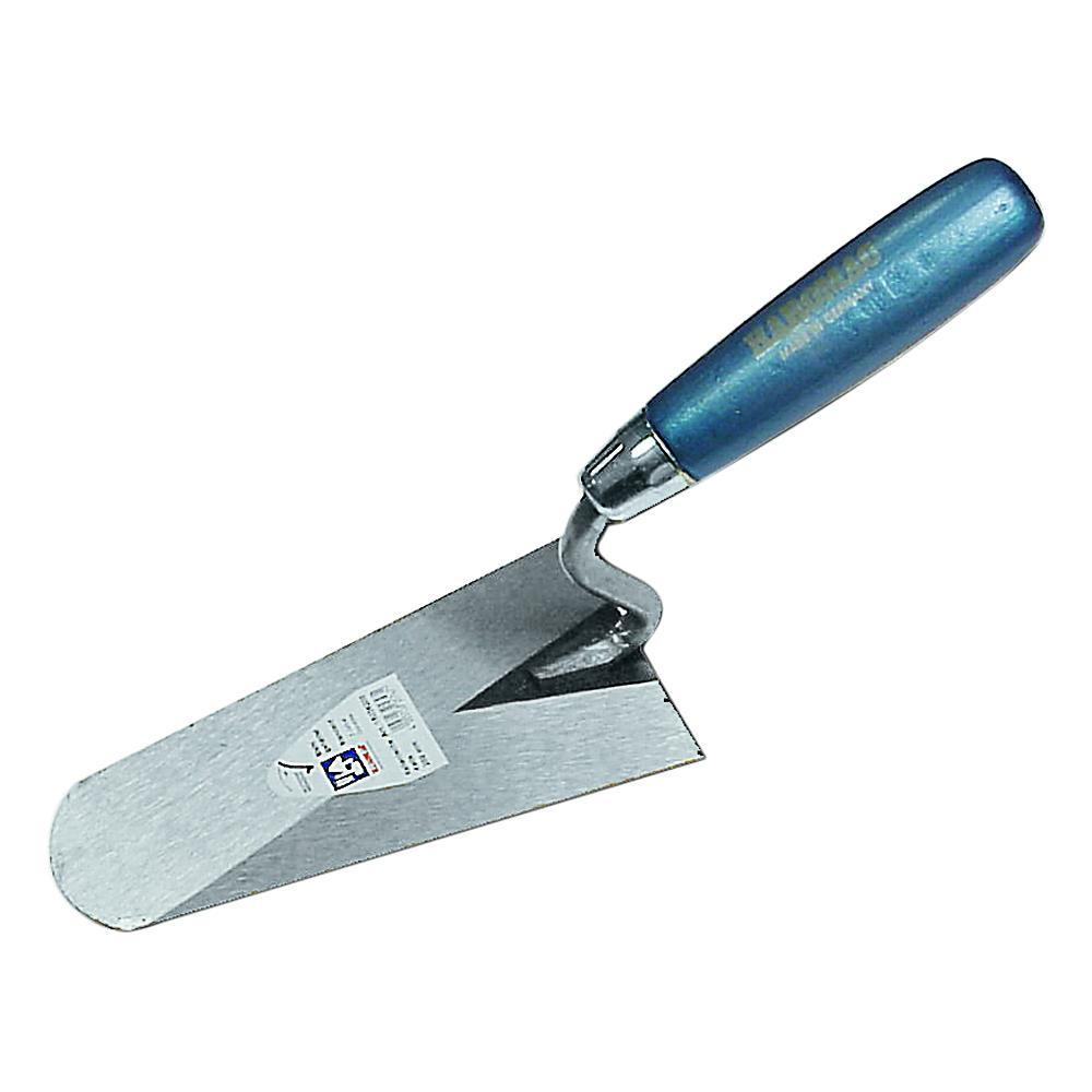 Italienische Kelle - S-Hals - gehärteter Stahl - Blattlänge 120 bis 180 mm - Hartholzheft