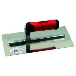 Glättekelle - lange Stütze - Edelstahl rostfrei - Blattlänge 330 mm - Blattbreite 130 mm - 2K-Ergo-Softgriff