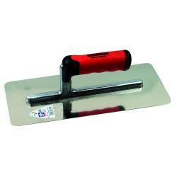 Glättekelle - lange Stütze - Edelstahl rostfrei - Blattlänge 330 mm - Blattbreite - 130 mm - 2K-Ergo-Softgriff