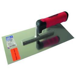 Glättekelle - Edelstahl rostfrei - Blattlänge 280 mm - Blattbreite 130 mm - 2K-Ergo-Softgriff