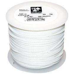 Maurerschnur auf Kunststoffabroller - Polyethylen - Länge 100 m - Stärke 2,0 mm, Weiß