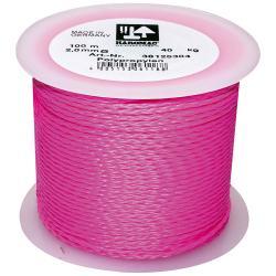 Maurerschnur auf Kunststoffabroller - Polypropylen N85 - Länge 100 m - Stärke 2,0 mm - Pink