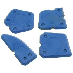4-piece putty knife set - plastic - blue