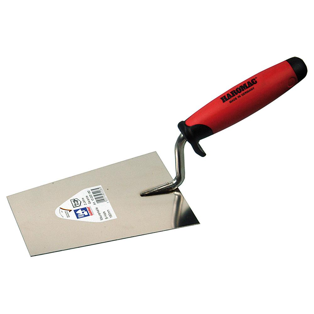 Maurerkelle - Edelstahl rostfrei - Blattlänge 160 bis 180 mm - 2k-Ergo-Softgriff