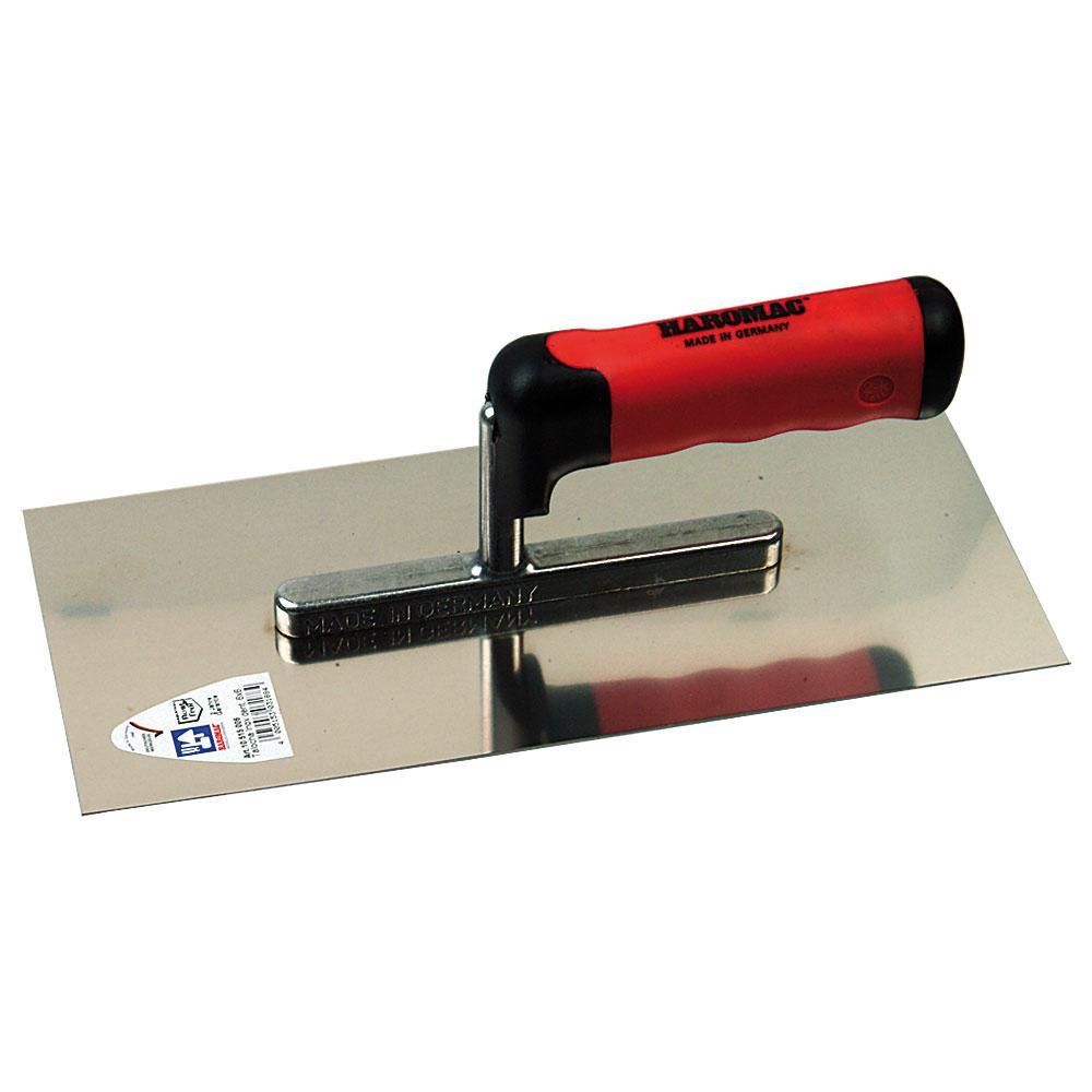 Glättekelle - Edelstahl rostfrei - Länge 280 mm - Breite 130 mm - 2K-Ergo-Softgriff