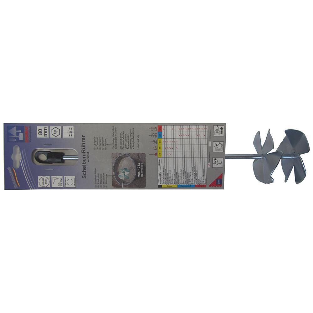 Disc stirrer - round steel galvanized - length 350 mm or 500 mm - diameter 80 mm or 100 mm
